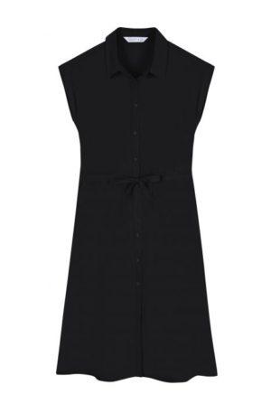 Vestido Negro Camisero Botones