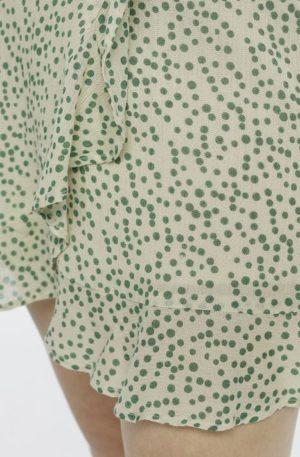 Falda Mini Lunares Verdes