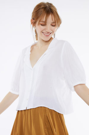 Blusa Solapa Blanca
