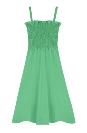 Vestido Midi Verde Tirantes
