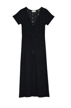 Vestido Broderie – Vicky Negro