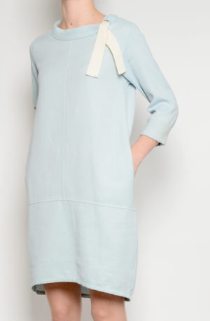 Vestido Pique Azul Agua